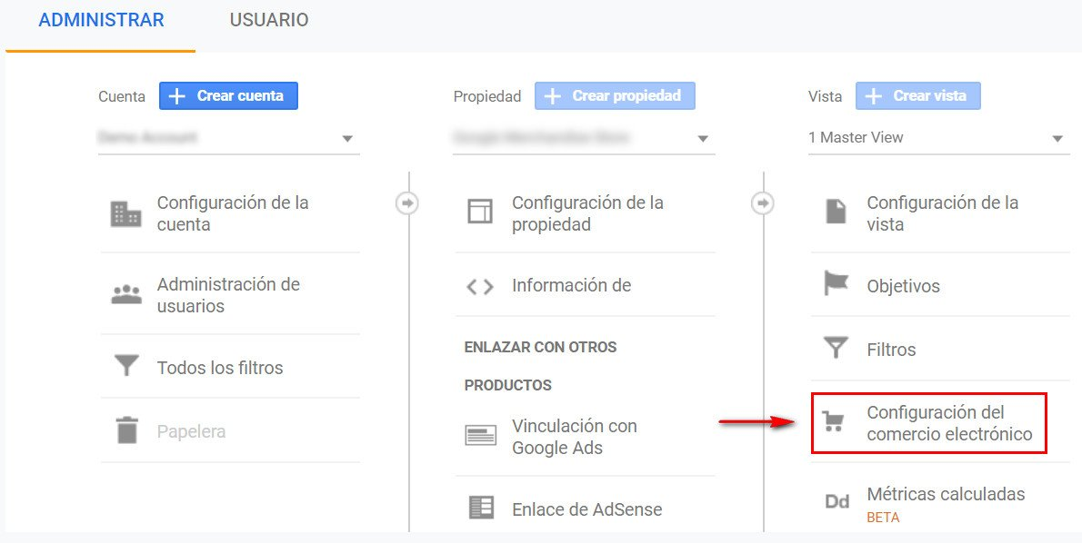 configuracion de google analytics