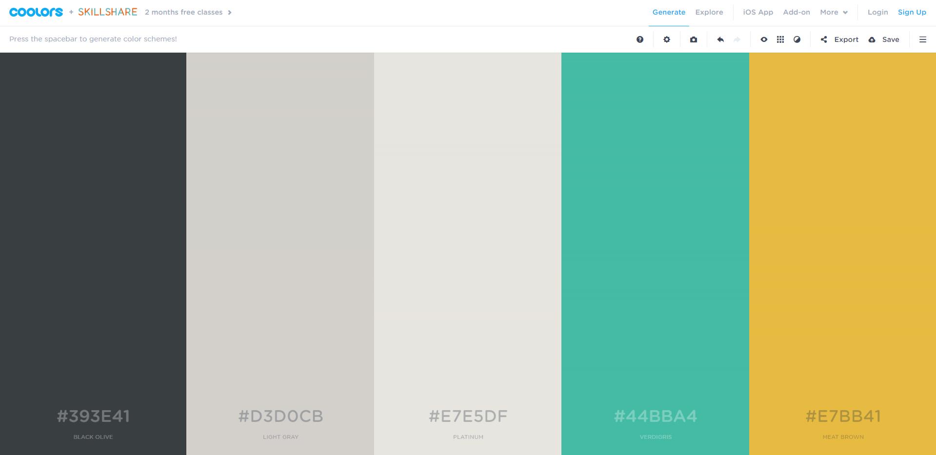 combinacion colores web