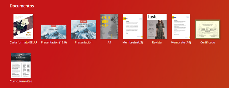 Crear documentos en Canva
