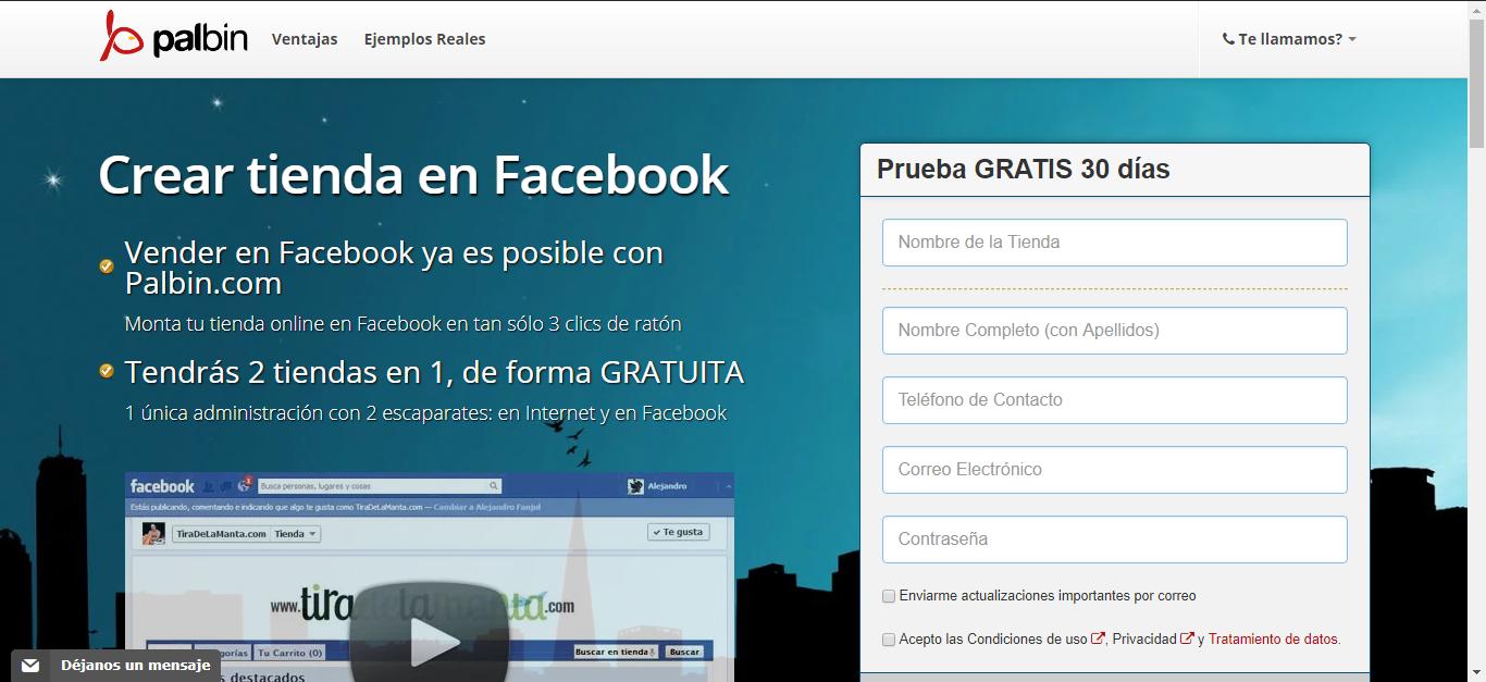 Crear tienda online en Facebook