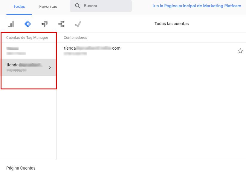 cuenta en google tag manager