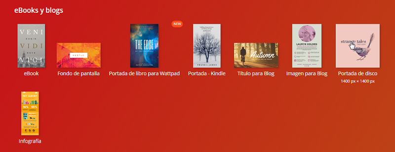 Crear fondos de ebook y blog en Canva