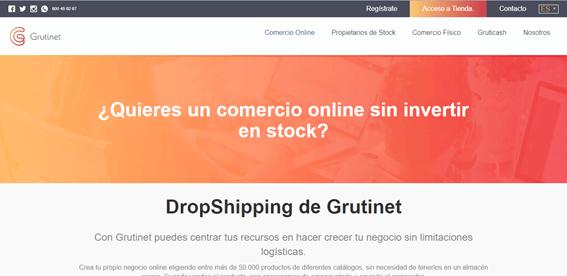 Proveedor dropshipping nacional, Grutinet