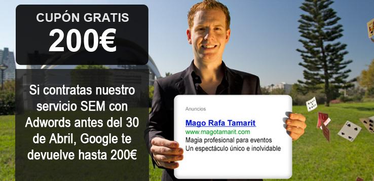 Consigue un cupón de 200 euros en Google Adwords gracias a Palbin.com