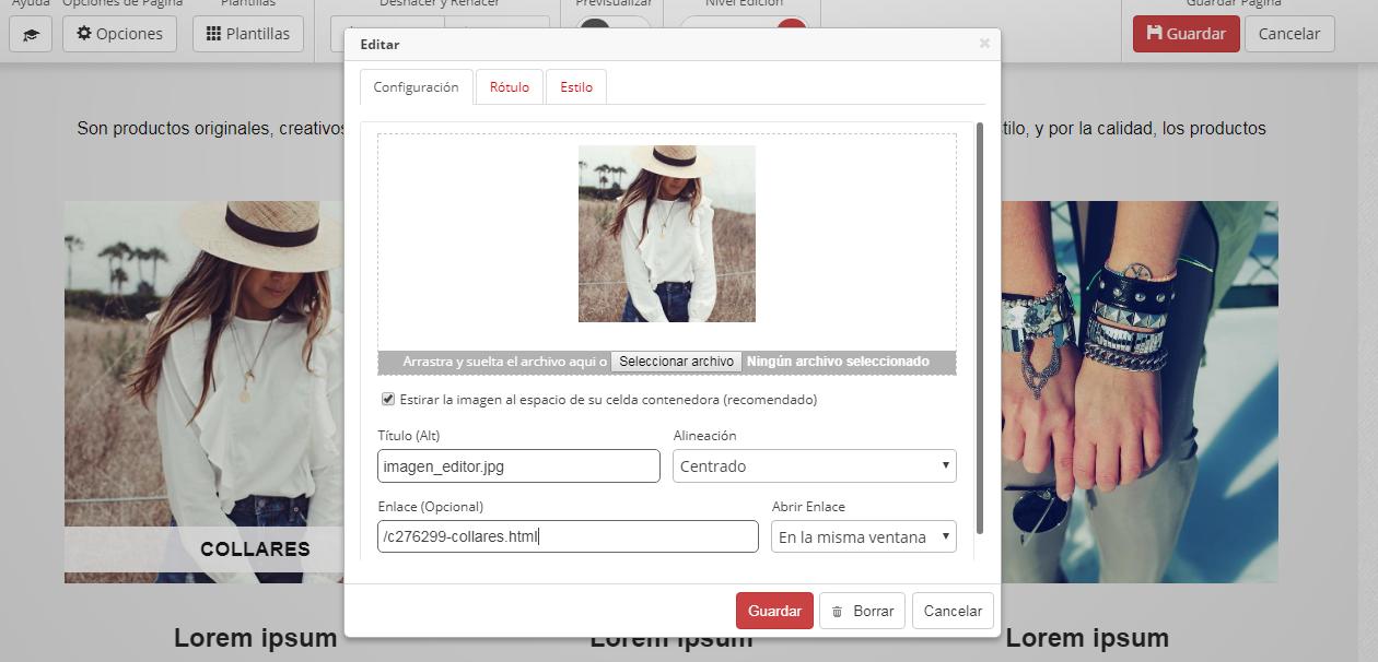crear rotulo tienda online