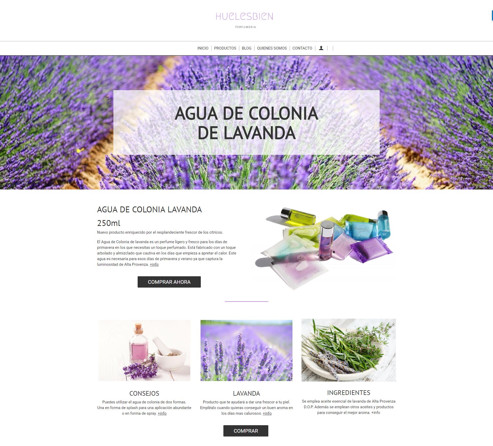 landing page ejemplo de venta de producto: