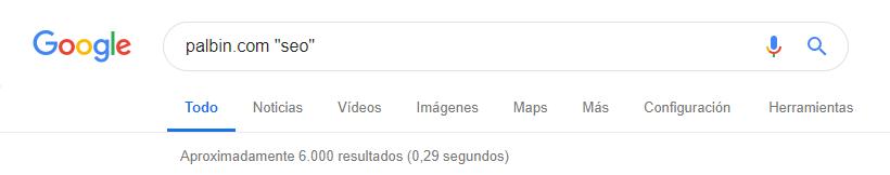 comando google incluir palabras