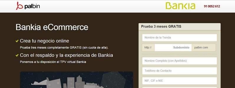 Palbin.com llega a un acuerdo con Bankia para comercializar tiendas online