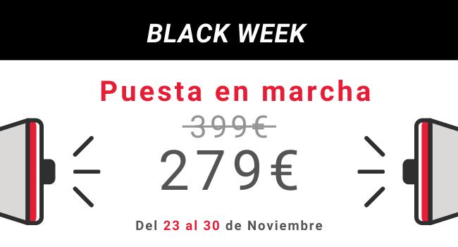 En la Black week Montamos tu tienda por solo 279€!