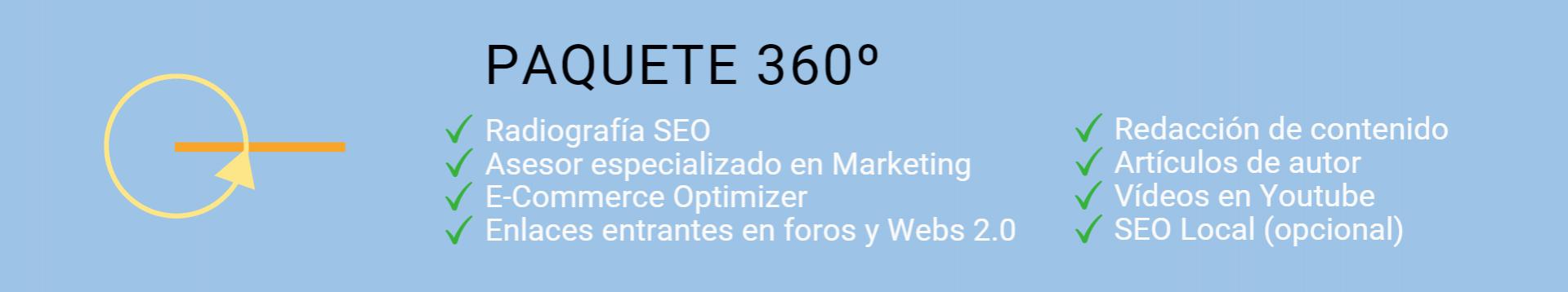 Paquete experto SEO 360