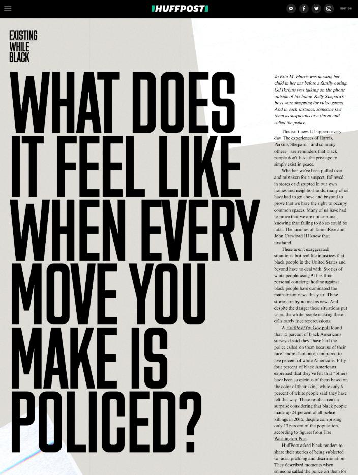Diseño bonito web con tipografía gigante