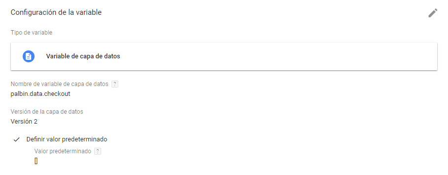 variables en google tag manager