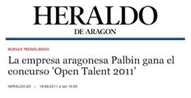 Palbin en El Heraldo de Aragón