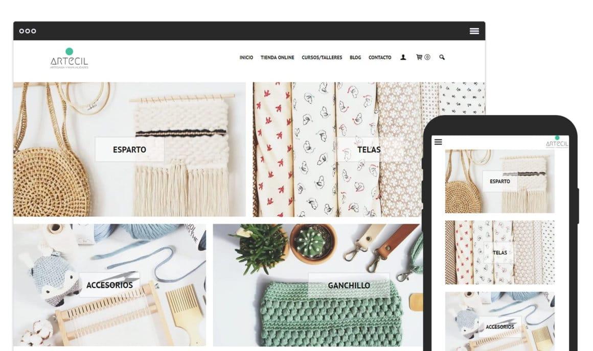 Ejemplo crear tienda online de artesania