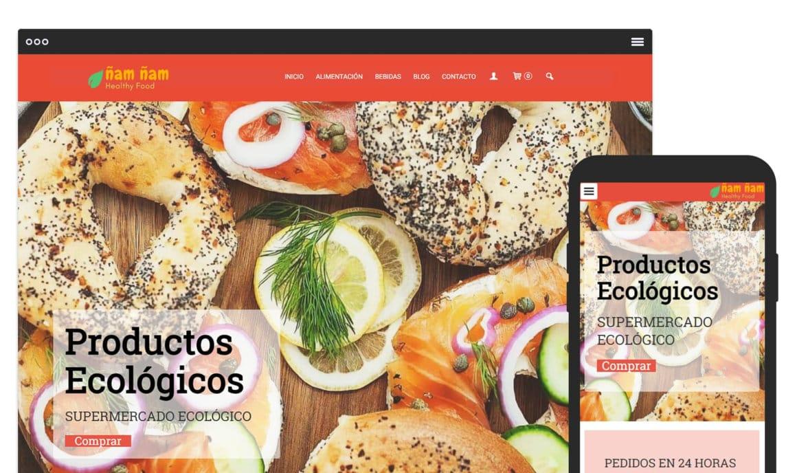 Ejemplo crear tienda online de comida