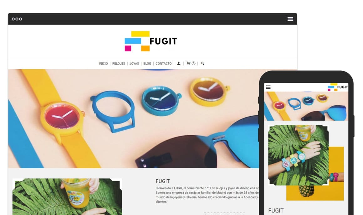 Ejemplo crear tienda online de joyeria