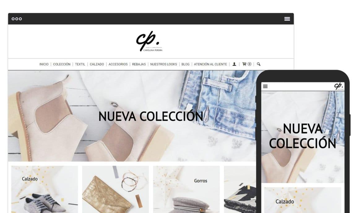 Ejemplo crear tienda online de moda